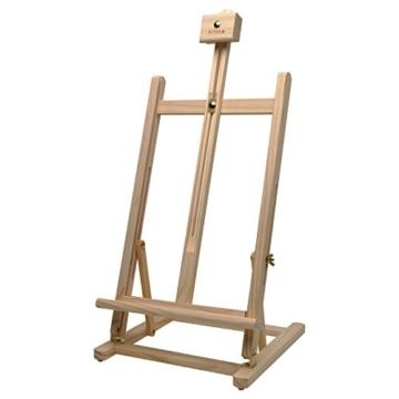 Artina Tischstaffelei Sydney - Leinwand Staffelei aus Holz - Sitzstaffelei 27 x 27 x 60 cm für alle Maltechniken geeignet - 2