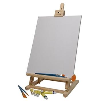 Artina Tischstaffelei Sydney - Leinwand Staffelei aus Holz - Sitzstaffelei 27 x 27 x 60 cm für alle Maltechniken geeignet - 3
