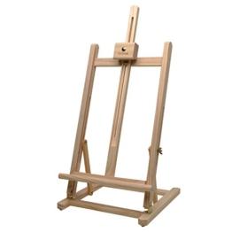 Artina Tischstaffelei Sydney - Leinwand Staffelei aus Holz - Sitzstaffelei 27 x 27 x 60 cm für alle Maltechniken geeignet - 1