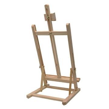 Artina Tischstaffelei Sydney - Leinwand Staffelei aus Holz - Sitzstaffelei 27 x 27 x 60 cm für alle Maltechniken geeignet - 4
