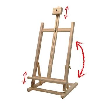 Artina Tischstaffelei Sydney - Leinwand Staffelei aus Holz - Sitzstaffelei 27 x 27 x 60 cm für alle Maltechniken geeignet - 5