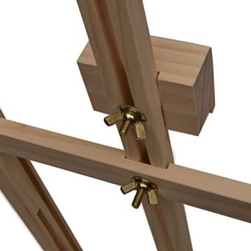 Artina Tischstaffelei Sydney - Leinwand Staffelei aus Holz - Sitzstaffelei 27 x 27 x 60 cm für alle Maltechniken geeignet - 8