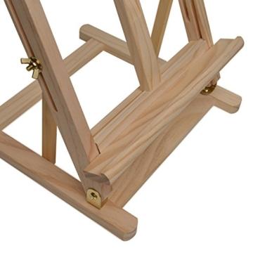 Artina Tischstaffelei Sydney - Leinwand Staffelei aus Holz - Sitzstaffelei 27 x 27 x 60 cm für alle Maltechniken geeignet - 9