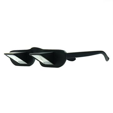 Asnlove Lazy Glasses, Brille Winkelbrille Lazy Readers 90 Grad HD Horizontale Brille Brechung-Brille Prismen-Brille, Schwarz - 3