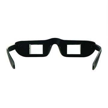 Asnlove Lazy Glasses, Brille Winkelbrille Lazy Readers 90 Grad HD Horizontale Brille Brechung-Brille Prismen-Brille, Schwarz - 4