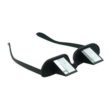 Asnlove Lazy Glasses, Brille Winkelbrille Lazy Readers 90 Grad HD Horizontale Brille Brechung-Brille Prismen-Brille, Schwarz - 1