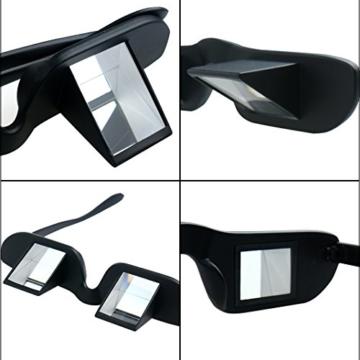 Asnlove Lazy Glasses, Brille Winkelbrille Lazy Readers 90 Grad HD Horizontale Brille Brechung-Brille Prismen-Brille, Schwarz - 5