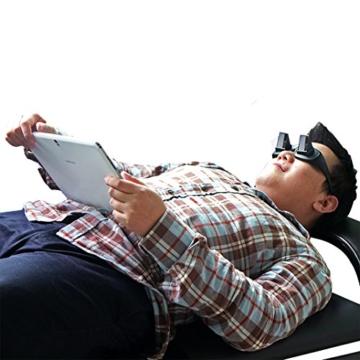 Asnlove Lazy Glasses, Brille Winkelbrille Lazy Readers 90 Grad HD Horizontale Brille Brechung-Brille Prismen-Brille, Schwarz - 7