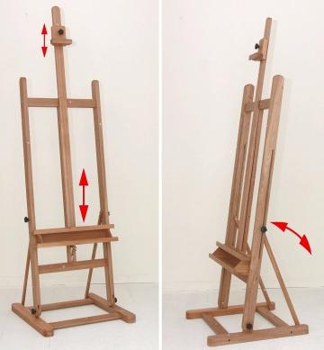 Atelierstaffellei Arta aus Holz (buche), Ansichten
