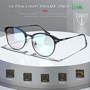ATTCL Unisex blaulichtfilter brille computerbrille zum Blockieren von UV-Kopfschmerz [Verringerung der Augenbelastung] Gaming Brille,(Herren/Damen) 5054 Black-ALL - 3