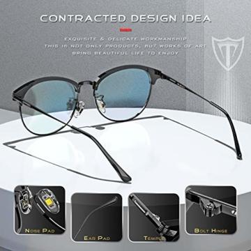ATTCL Unisex blaulichtfilter brille computerbrille zum Blockieren von UV-Kopfschmerz [Verringerung der Augenbelastung] Gaming Brille,(Herren/Damen) 5054 Black-ALL - 4