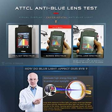ATTCL Unisex blaulichtfilter brille computerbrille zum Blockieren von UV-Kopfschmerz [Verringerung der Augenbelastung] Gaming Brille,(Herren/Damen) 5054 Black-ALL - 6