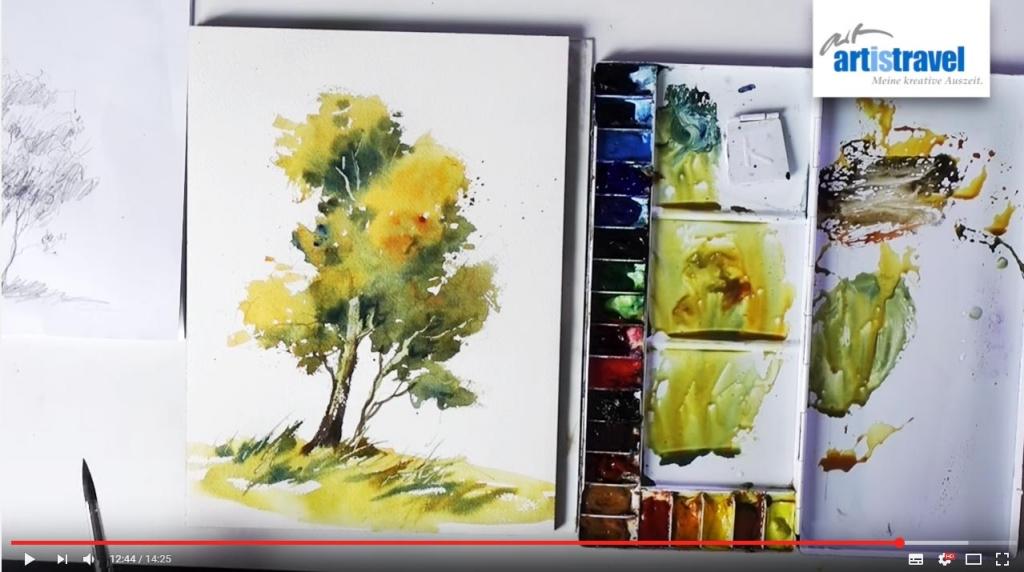 Einen Baum mit Aquarell malen (Video mit Kristina Jurick)