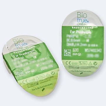 Bausch und Lomb Biotrue ONEday for Presbyopia Tageslinsen, Gleitsicht-Kontaktlinsen, weich, 30 Stück -02.50 Dpt, DIA 14,2 mm, BC 8,60, Add Low - 3