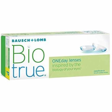 Bausch und Lomb Biotrue ONEday Tageslinsen, sphärische Kontaktlinsen, weich, 30 Stück / BC 8.6 mm / DIA 14.2 / -1.75 Dioptrien - 2