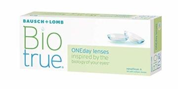 Bausch und Lomb Biotrue ONEday Tageslinsen, sphärische Kontaktlinsen, weich, 30 Stück / BC 8.6 mm / DIA 14.2 / -1.75 Dioptrien - 11