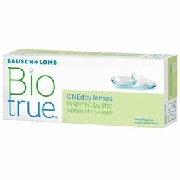 Bausch und Lomb Biotrue ONEday Tageslinsen, sphärische Kontaktlinsen, weich, 30 Stück / BC 8.6 mm / DIA 14.2 / -1.75 Dioptrien - 1