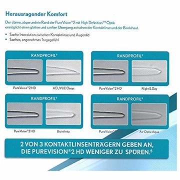 Bausch und Lomb PureVision 2 for Presbyopia Monatslinsen, sehr dünne Gleitsicht-Kontaktlinsen, weich, 3 Stück BC 8.6 mm / DIA 14 / 1.25 Dioptrien / ADD Low - 5
