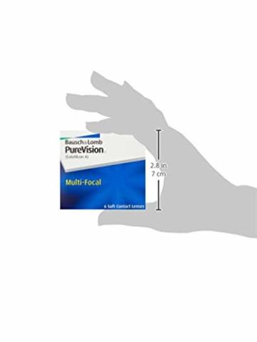 Bausch und Lomb Purevision Multifocal Monatslinsen, Gleitsicht-Kontaktlinsen, weich, 6 Stück BC 8.6 mm / DIA 14 / -5 Dioptrien / ADD High - 9