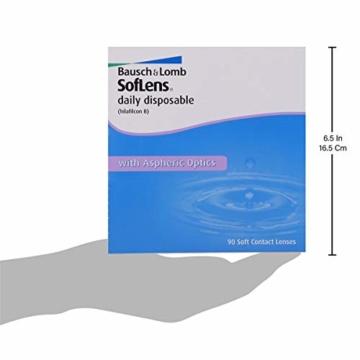 Bausch und Lomb SofLens daily disposable Tageslinsen, sphärische Kontaktlinsen, weich, 90 Stück BC 8.6 mm / DIA 14.2 / -5.75 Dioptrien - 6