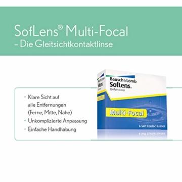 Bausch und Lomb SofLens Multifocal Monatslinsen, Gleitsicht-Kontaktlinsen, weich, 6 Stück BC 8.8 mm / DIA 14.5 / 6 Dioptrien - 3