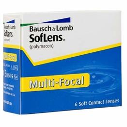 Bausch und Lomb SofLens Multifocal Monatslinsen, Gleitsicht-Kontaktlinsen, weich, 6 Stück BC 8.8 mm / DIA 14.5 / 6 Dioptrien - 1