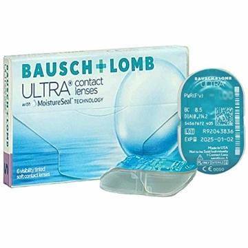 Bausch und Lomb Ultra, sphärische Premium Monatslinsen, Kontaktlinsen weich, 6 Stück BC 8.5 mm / DIA 14.2 / -3 Dioptrien - 2