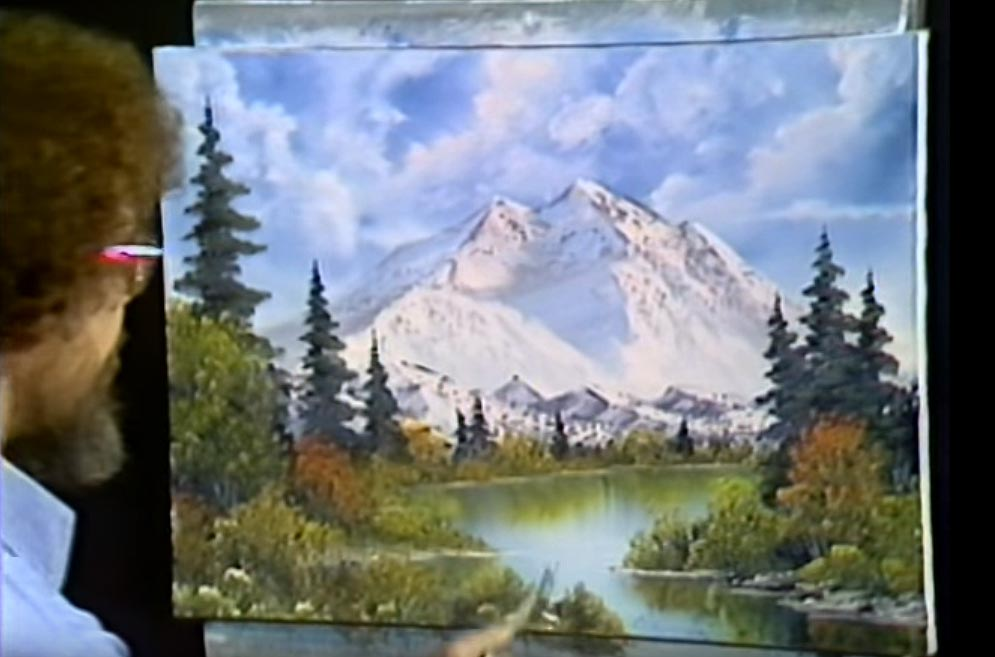 Bob Ross Gemälde Mount McKinley