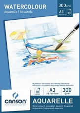 Canson 200005790 - Aquarellpapier A3, 300 g/m², 10 Blatt, weiß -