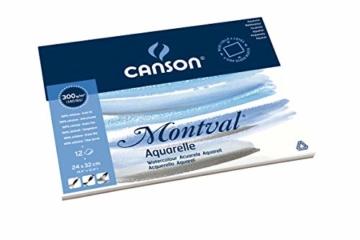 Canson 200006544 Montval Aquarellpapier, 24 x 32 cm, naturweiß - 4