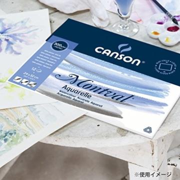 Canson 200006544 Montval Aquarellpapier, 24 x 32 cm, naturweiß - 5