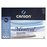 Canson 200807320 Montval Aquarellpapier, A3, naturweiß -