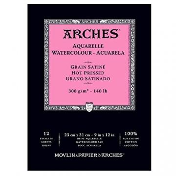 Canson 400014953 Arches Aquarell, 23 x 31 cm, naturweiß -
