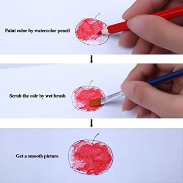 Cobee Aquarelle Wasserlösliche Farbstifte Set für Secret Garden Kunst Marco Farbige Zeichnung Artist Sketch Malerei Metallbox (72 Stück) -