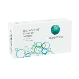 CooperVision Biomedics 55 Evolution Monatslinsen weich, 6 Stück / BC 8.90 mm / DIA 14.20 mm / -4.00 Dioptrien - 1