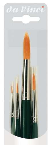Da Vinci - hochwertiges Aquarell-Pinsel-4er Set