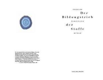 Der Bildungstrieb der Stoffe (Naturkunden) - 3