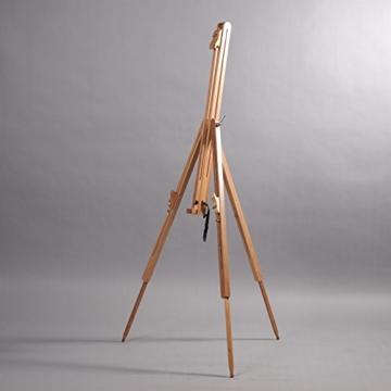 DESIGN DELIGHTS TRAGBARE Feld STAFFELEI Magnus aus geöltem Buchenholz Feldstaffelei für Keilrahmen bis 100cm - 2