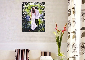 DIY steuern Dekor digitalen Leinwand Ölgemälde von Nummer Kits Romantische Liebe Herbst 16 * 20 Zoll. -