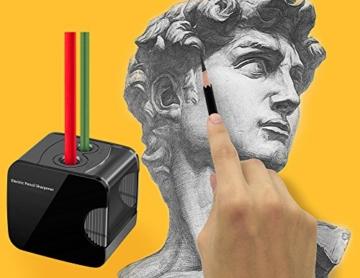 Elektrischer Anspitzer, Angetrieben mit USB oder Batterie arbeitet bewältigt Schwerlast automatischer elektrischer Anspitzer für Nr. 2 Stifte und Buntstifte - 7