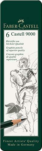 Faber-Castell 119063 Bleistift Castell 9000, 6-er Etui - 1