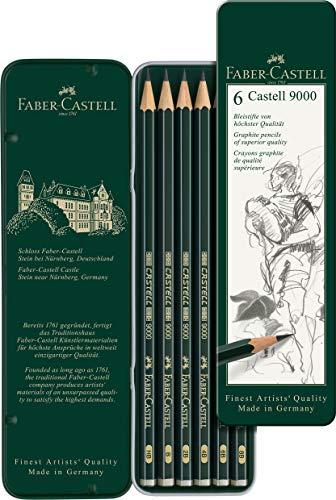Faber-Castell 119063 Bleistift Castell 9000, 6-er Etui - 2