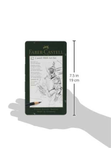 Faber-Castell 119065 - Bleistift Castell 9000, 12er Art Set - 7