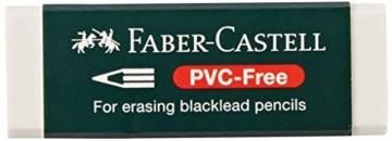 Faber-Castell 188121 - Radierer 7081 N PVC-Free, Kunststoff, weiß - 1