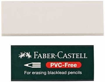 Faber-Castell 188121 - Radierer 7081 N PVC-Free, Kunststoff, weiß - 2