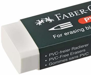 Faber-Castell 188121 - Radierer 7081 N PVC-Free, Kunststoff, weiß - 4