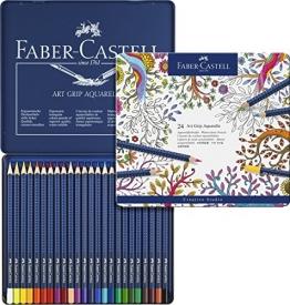 Faber-Castell Aquarell-Stifte Art Grip/114224 Inhalt 24 Etui -