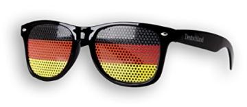 Fanbrille Deutschland - Schwarz – Sonnenbrille – Brille Germany – Schwarz Rot Gold - Fan Artikel - 2
