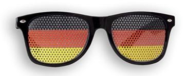 Fanbrille Deutschland - Schwarz – Sonnenbrille – Brille Germany – Schwarz Rot Gold - Fan Artikel - 3
