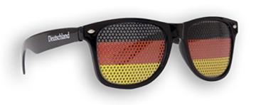 Fanbrille Deutschland - Schwarz – Sonnenbrille – Brille Germany – Schwarz Rot Gold - Fan Artikel - 1